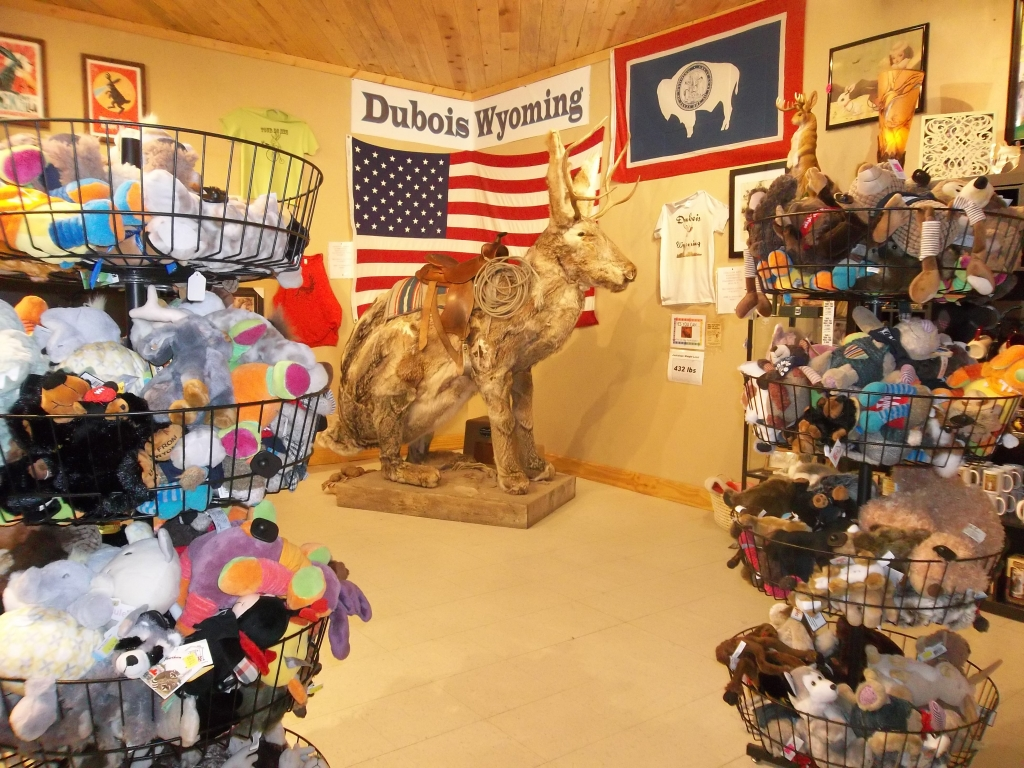 Dubois Country Store interior jackalope sculpture
